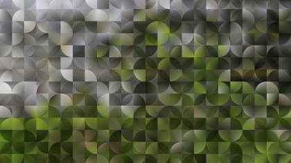 Dark Green Abstract Quarter Circles Background