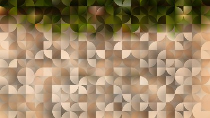 Green and Beige Abstract Quarter Circles Background Illustration