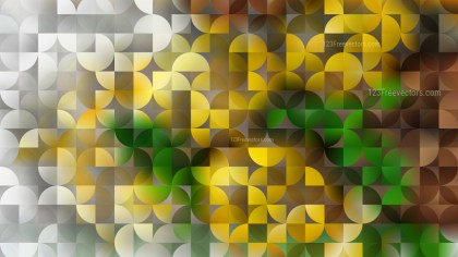 Green and Yellow Quarter Circles Background Vector Graphic