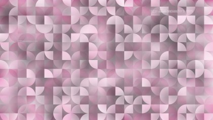 Abstract Pastel Pink Quarter Circles Background