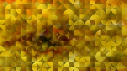 Abstract Yellow Quarter Circles Background
