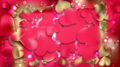 Beige and Red Valentine Background