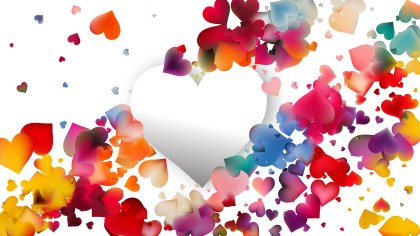 Colorful Valentines Day Background Vector Graphic