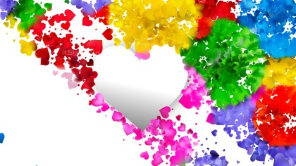 Colorful Valentines Day Background