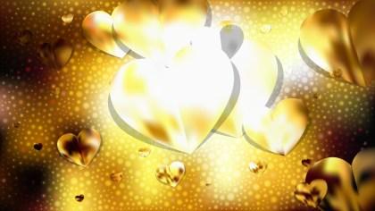 Gold Valentines Background Illustration