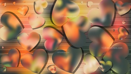 Green and Yellow Valentines Day Background