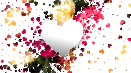 Light Color Heart Wallpaper Background Image