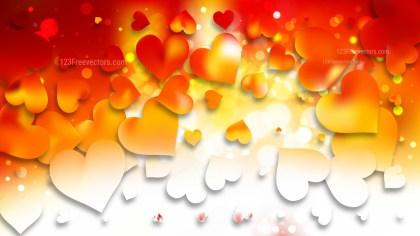 Light Orange Valentines Day Background