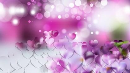 Light Purple Heart Wallpaper Background