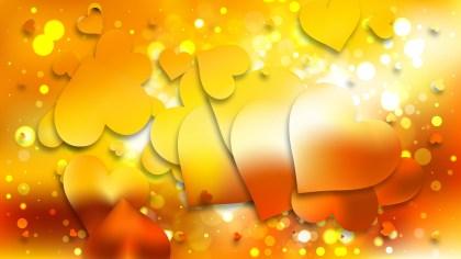Orange Valentines Day Background Vector Graphic