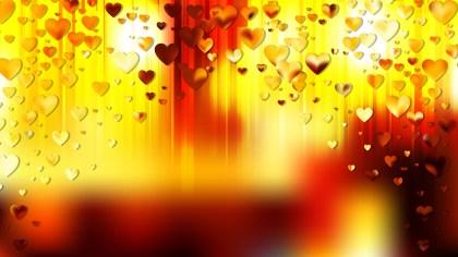 Orange and Black Heart Wallpaper Background Image