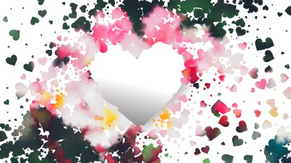 Pink and Green Heart Wallpaper Background Vector Art