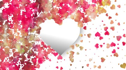 Pink and White Heart Background