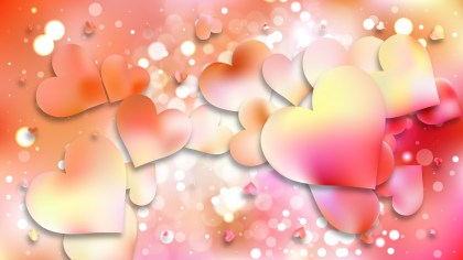 Pink and Yellow Heart Background Vector