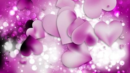 Purple Heart Wallpaper Background Vector Illustration