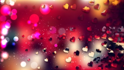 Red and Black Valentine Background Vector Graphic