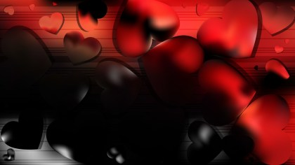 Cool Red Love Background Vector Illustration