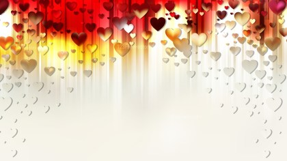Red and White Heart Background Design