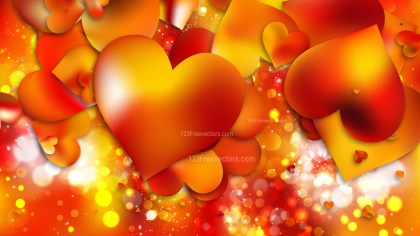 Red and Yellow Valentine Background Illustrator
