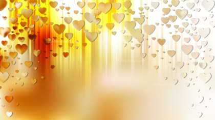 Yellow Valentines Background Illustration