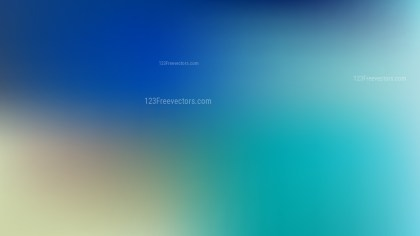 Blue and Yellow PPT Background Illustration