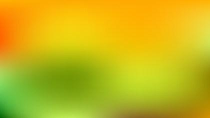Orange and Green Blur Background