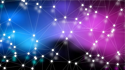 Connecting Dots and Lines Blue and Purple Abstract Background