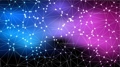 Abstract Blue and Purple Connected Lines and Dots Background Vector Image