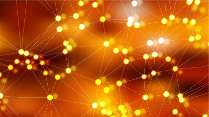 Connecting Dots and Lines Dark Orange Abstract Background Vector Image