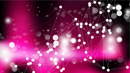 Abstract Pink and Black Connected Lines and Dots Background Illustration