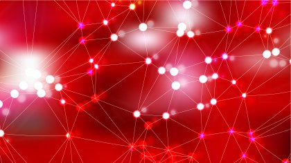 Abstract Red Connected Lines and Dots Background