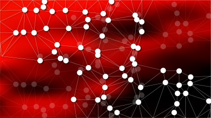 Connecting Dots and Lines Cool Red Abstract Background