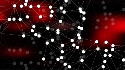 Abstract Red and Black Connected Lines and Dots Background Vector Image