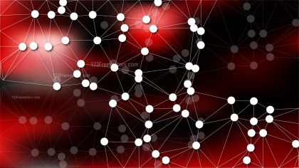 Connecting Dots and Lines Red and Black Abstract Background Image