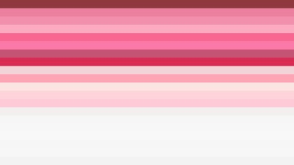 Pink and White Horizontal Striped Background Vector