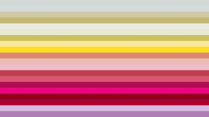 Pink and Yellow Horizontal Striped Background Vector Illustration
