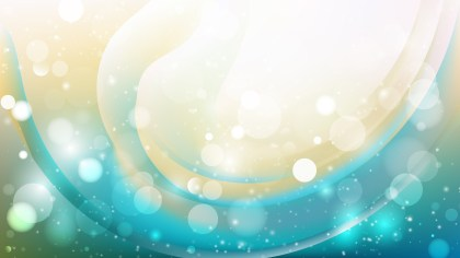 Abstract Beige and Turquoise Bokeh Defocused Lights Background