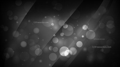 Abstract Black Bokeh Background Image
