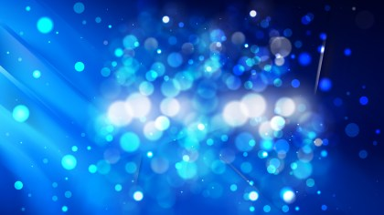 Abstract Black and Blue Bokeh Defocused Lights Background
