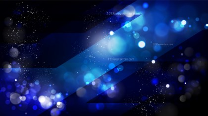 Abstract Black and Blue Defocused Lights Background Image