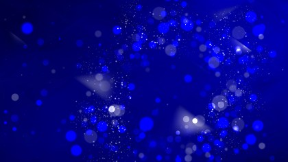 Abstract Black and Blue Bokeh Background Design