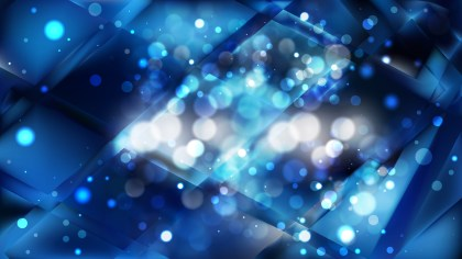 Abstract Black and Blue Bokeh Lights Background Vector