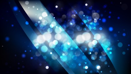Abstract Black and Blue Lights Background Design
