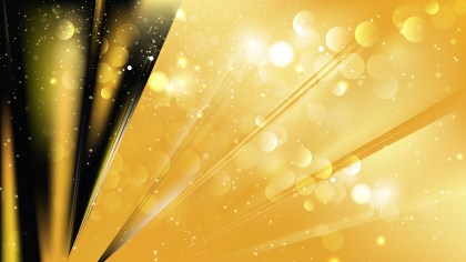 Abstract Black and Gold Bokeh Lights Background Image