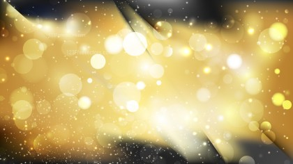Abstract Black and Gold Blurry Lights Background Design
