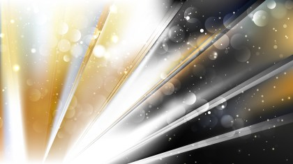 Abstract Black and Gold Blurred Bokeh Background Design