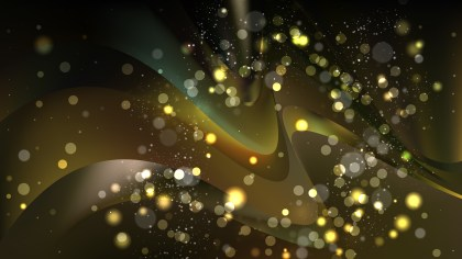 Abstract Black and Gold Defocused Lights Background Vector