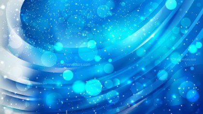 Abstract Blue Bokeh Lights Background Image