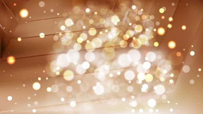 Abstract Brown Bokeh Lights Background Vector