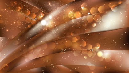 Abstract Brown Blurry Lights Background Vector